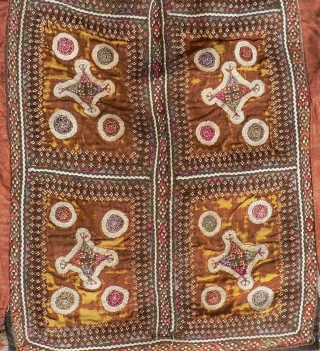 Superb Old Sind Wedding Choli. This spectacular heavily embroidered dress or choli from the Sind region was probably made and used by a bride in her wedding. The choli is fully embroidered  ...