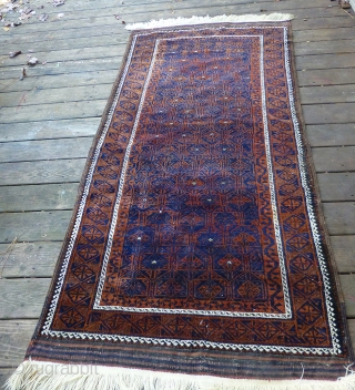 Antique/old Baluch Rug. Excellent condition, medium to full pile throughout, good kilims and selvedges. 84 x 40 inches