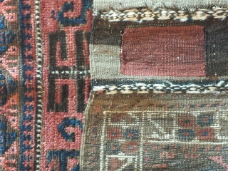 "Antique Baluch bagface 2'5"" x 2'8"""