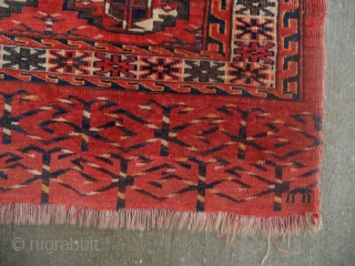 Turkmen Yomut chuval with excellent elem