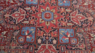 Excellent condition 10X13 rug of undetermined age, but 1930 at  the latest