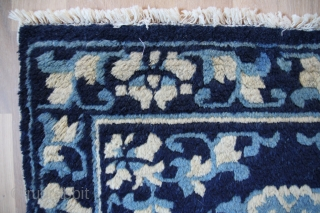 Seat mat China 19th century Wool on Cotton
