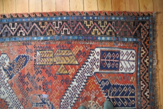 Dragon Sumagh East Caucasus Around 1900 Wool on Wool Age and Wear Size: 300 x 225 cm