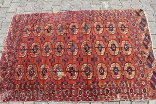 Tekke Turkmenistan Second Half 19TH Century Wool on Wool Naturalcolor signs of age and wear Size: 187x116 cm