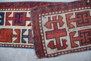 Bordure of a antique rug about 1860 or earlier, central Anatolia may be round the area of Konya,