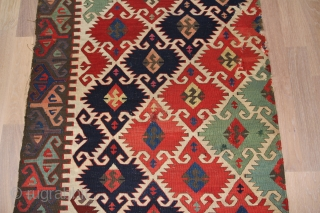 Anatolien Kelim (Fragment) Konya region, Wool on Wool with natural colors