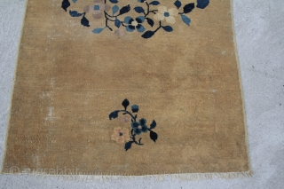 chinese rug, wool on cotton, less pile, size: 1,69 x 0,86 m