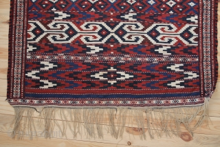 Jomud Flat weave Kelim - Sumagh around 1900 Wool on wool with a proportion of Very good condition. Size: 230x102 cm