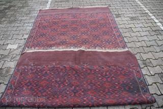 Jomud Sumagh Kelim around 1900 Wool on Wool very good condition Size: 341 x 170 cm