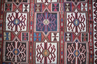 Very fine kuba Kelim from the Caucasus at the end of the 19th century Wool on wool natural color very good condition. in size: 343 x 194 cm price on request