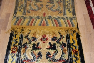 Silk Dragon carpet, Western China Very good condition Size: 182x94cm