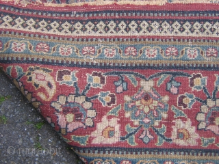 antique dorokhsh meshed persian rug circa 1900 size 210 x 340 cm 