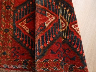 Ersari Beshir torba, ikat pattern, very good condition,104 x 40 cm.