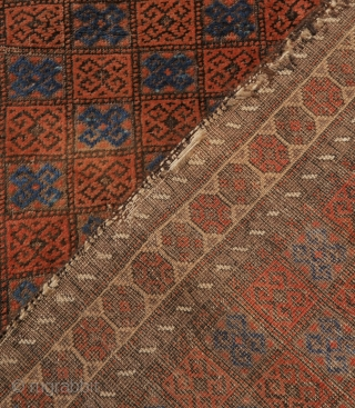 attractive Baluch rug, apart from the borders in good solid condition, with slight corrosion. the borders can be folded to the back as you can see on picture two.  163 x 91  ...