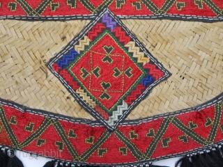 Beautiful silk embroidered fan,  from Pakistan