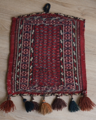 Yomud piece, not a bagface, probably a representation of the yurt (Knorr found similar weavings in the winter dwellings of Afghan Turmenthe meaning is unknown).