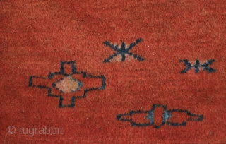 Fine Yomut cuval, the colours are natural, except for one pink I think.  fine weave, nice figures in elem. Velvet like feeling.  condition is ok, minor wear and one restauration ( see  ...