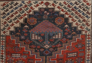 excellent Luri Kurdish rug in mint condition, natural colours, no wear or restaurations or damage. Brocaded kilim ends intact. 1.64 x 2.34 cm.  (in case of no reaction please use contactform on  ...
