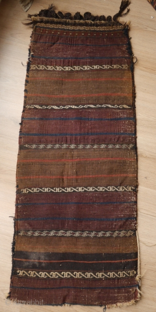 Rare red Baluch balisht with Saryk turkmen pattern. Nice borders and back, natural colours, electric blue, handwashed