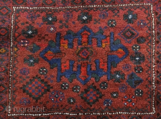 playful tribal Luri bag face, looks like small rug, mint condition, soft wool, good colours,  62 x 72 cm.