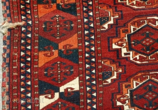 Saryk Main Carpet, old drawing with iconic border, hints of silk