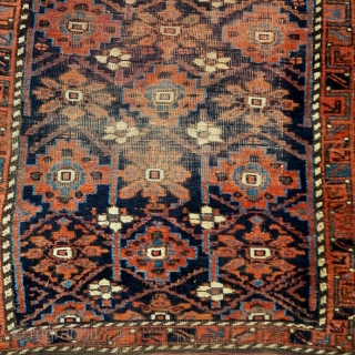 "Baluch minakhani rug with eccentric wefting,  2'9""x4'0"""