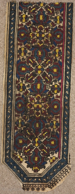 Bulgarian embroidery, late Ottoman or early independence period (19th century). Silk highlights with a crisp design. Very charming!
