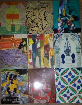 Various Islamic Art sale auction catalogs, Christie's and Sotheby's. From the 90s to 2015, mainly London sales.  These are duplicates belonging to a friend who is moving and they are in great  ...
