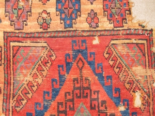 Old Colorful Central Anatolian Rug Fragment