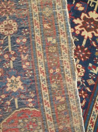 "South Caucasian, Kuba Rug with Afshan design, cotton weft, wool warp 5'8""x3'2"""