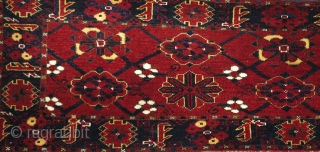 Turkmen minakhani long torba or trapping, probably Ersari from Northern Afghanistan. Not ancient but certainly antique, circa 1890-1915? Great wool and condition with all natural colors.