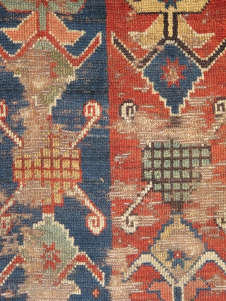 Old and unusual Eastern Anatolian Rug: dynamism, wear, patches and all