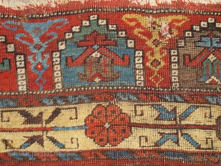 "Central Anatolian Sızma / Konya area carpet, circa 1750, great colors, many colors including natural camel. iconic design. 7'7""x4'7"""