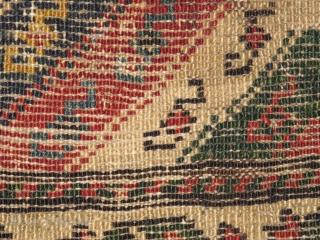 Caucasian pile bag with diagonal stripes