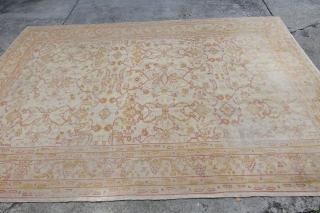 Antique Ivory 19 C. Oushak Carpet ending tomorrow  http://stores.ebay.com/LETS-MAKE-A-DEAL-AROUND-7-AFTER-7/_i.html?rt=nc&_sc=1&_sid=27737004&_sticky=1&_trksid=p4634.c0.m14&_sop=10&_sc=1
