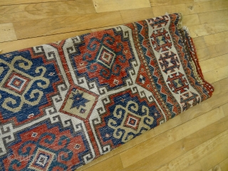 Antique COLLECTORS CAUCASIAN ALL WOOL RUG 4'0 x 5' 11, Wonderful Rich Colors, Softest Velvet touch wool quality, Good Overall original pile, shown holes, 