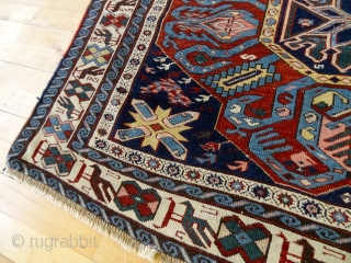 Antique COLLECTORS CAUCASIAN ALL WOOL RUG 4'1 x 5' 5, Wonderful Rich Colors, Softest Velvet touch kork wool quality, fresh selvages,    Payment-Methods: Paypal, Bankwire or Western Union  Ebay-Store-Link:http://www.ebay.com/itm/ANTIQUE-LOT-NO-1423-ANTIQUE-1880s-COLLECTORS-DOUBLE-MEDALLION-KORK-SEYCHUR-/381186627882?     Gallery in Switzerland: Home: Bernard Zarnegin  ...