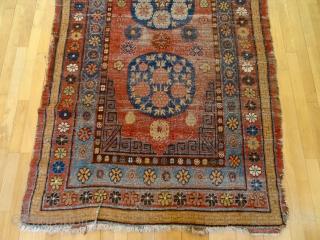 Antique COLLECTORS 150 YEAR OLD KHOTAN MEDALLION RUG, 4'6 x 7' 11, Wonderful  Colors, Softest wool quality   Payment-Methods: Paypal, Bankwire or Western Union  Ebay-Store-Link:http://www.ebay.com/itm/ANTIQUE-LOT-NO-1424-ANTIQUE-1850s-ORIGINAL-MUSEUMS-QUALITY-POMMEGRADE-KHOTAN-/381186657652?pt=LH_DefaultDomain_0&hash=item58c07ecd74     Gallery in Switzerland: Home: Bernard Zarnegin Interiors, Nüschelerstrasse 32, 8001  ...