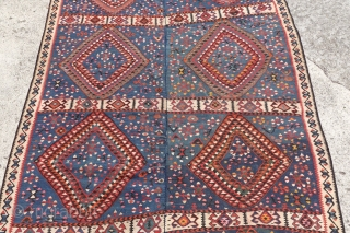 Antique Anatolian Kilim, Rare design and lovely colors, 166cm x 238cm, perfect condition, please ask.