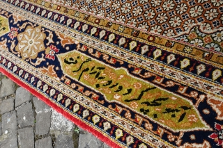 """Online Auction ends this Sunday 4th of June, 100% Silk Ghom Carpet,  Online-Bidding:   http://stores.ebay.com/LETS-MAKE-A-DEAL-AROUND-7-AFTER-7?_trksid=p2047675.l2563  Silk Ghom Carpet, 6' 7"""" x 9' 7"""" or 207cm x 296cm, THANK YOU AND ENJOY OUR AUCTIONS"""