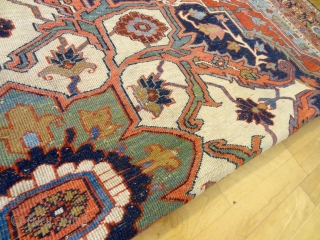 ANTIQUE NO.1816: ORIGINAL ANTIQUE 1880's WORLD CLASS PALACE SERAPi 11'3 x 14'3