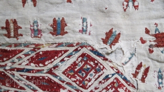 Fragment of a Chirpi, silk on cotton, 18th c