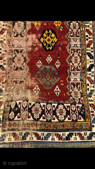 Early Kazak, unusual and striking, great colors,