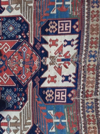 Caucasian rug,225 x 166 cm. There is no precise origin known, as there are only very few examples known. I personally only know 5 examples in 40 years. It might come from  ...