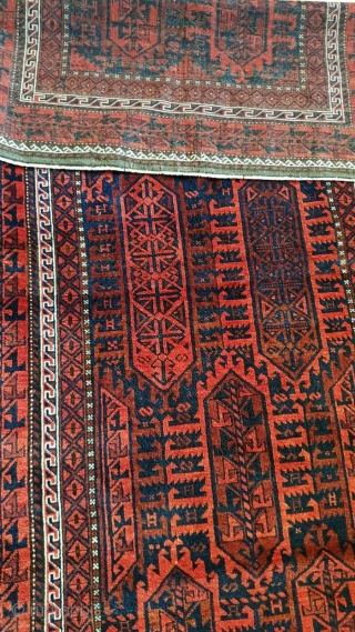 Belutsh, Timuri, fabulous condition, very nice piece, 203 x 108 cm, so you can hang it or üut on the floor, about 100 years old, maybe more, all good colors.