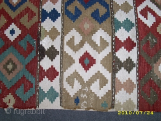 cacausian kelim about to 74 years old need repair woole cotton size 245x140cm