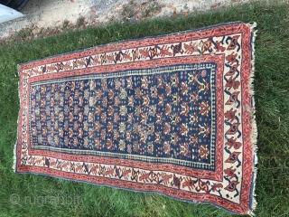 Antique Caucasian rug (Dhagestan)Ca 1900 Has some moth damage Nice example :SOLD