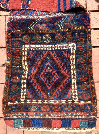 """JAF KURD KHORJIN.  Complete, except that side seams have been removed so that it is now one long strip. Overall length, unfolded, is 102"""" (250 cm), Width varies, but is about  ..."""