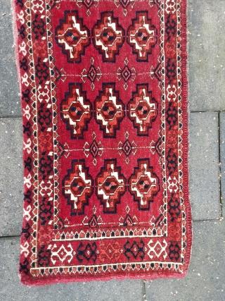 "Antique rare Tekke Turkoman torba in excellent condition. Last quarter 19th century.  All natural colors.  Sizes: 11.6"" x 32.8"" ------ 29 x 82 cm."