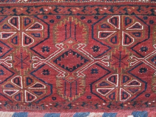Antique 1850 Ersari Beshir Turkoman torba from mid Amu Darya river region. The piece is in MINT condition,  all natural colors,  full pile, truly a masterpiece. 